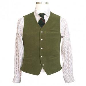 Wool Vest Green